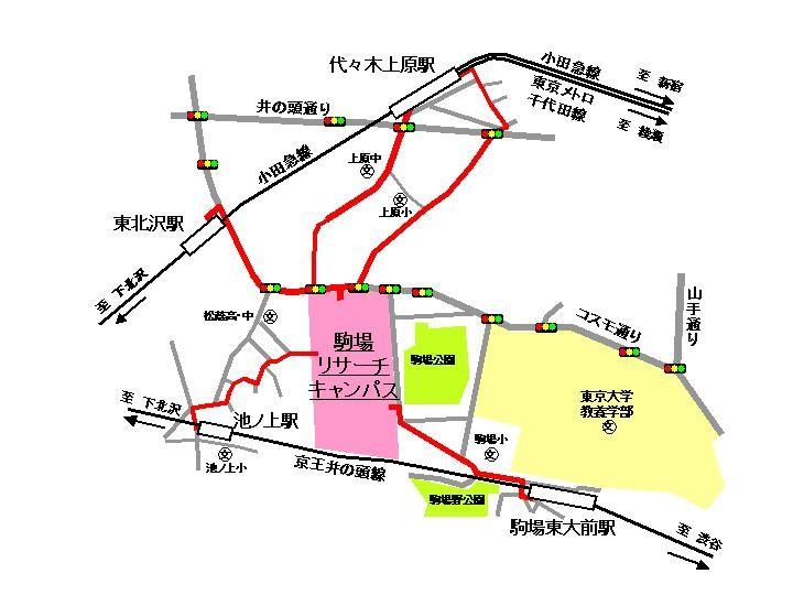 平川研究室への地図